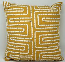 "Martha Stewart Collection Maze 18"" Geometric Decorative Pillow - Dark Yellow"
