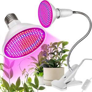 Pflanzenlampe Pflanzenleuchte Klemmleuchte 200 LED E 27 Vollspektrum Neu