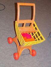 Vintage Mattel TUFF STUFF SHOPPING CART  Pretend Grocery Doll Stroller w food