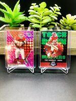 (2 CARD LOT) 2020 Mosaic TONY GONZALEZ PINK + Touchdown Masters GREEN Prizm 🔥🔥