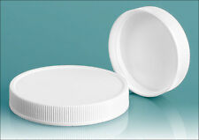 24 mm 24/410 Plastic Caps, White Polypro Ripped, PE F-217 Foam Lined: Lot 8 pcs