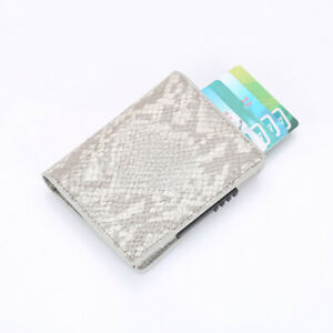 Mens RFID Blocking Faux Leather Credit Card ID Holder Wallet Purse Aluminum Gift