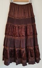 Ladies size 10 Long Brown Skirt - Filo