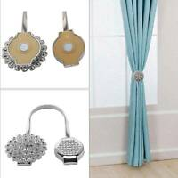 One Home Magnetic Crystal Flower Tiebacks Tie Curtain Backs Buckle Clips