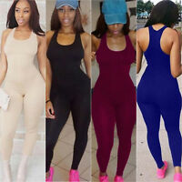 Damen Sport Yoga Jumpsuit Playsuit Romper Bodycon Overall Fitness Gym Hosenanzug