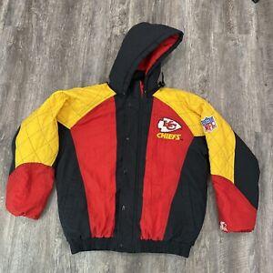 Vintage Kansas City Chiefs Starter Hooded Jacket Men Size Small