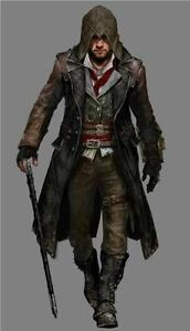 Jacob Frye Assassin's Creed Syndicate Mens Leather Trench Coat Costume-BNWT