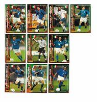 Azzurri Mondiali 98 - 10 Cards Panini World Cup Baggio Buffon