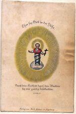 Jesus Kind Andachtsbild Heiligenbild Gentner Augsburg Koloriert (O-7281