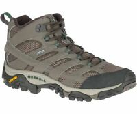 NEW MERRELL MOAB 2 MID GORETEX HIKING SHOES BOOTS LEATHER MENS BOULDER J033317