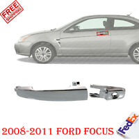 Front Exterior Door Handle Chrome Left Driver Side For 2008-2011 Ford Focus