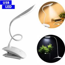 Dimmbar LED Klemmleuchte Leselampe Tischleuchte Schreibtischlampe Kaltweiß Clip!