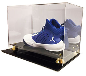 Deluxe Acrylic UV Protected Sneaker Shoe Cleat Mirror Back Display to Size 16