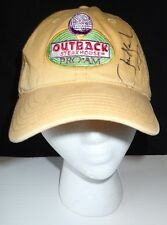Outback Steak House Pro Am Baseball Cap Adjustable Back Signed John Bland Yellow