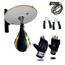 Boxing Speed Ball Platform Set Adjustable Swivel Stand Boxing Bag Mitt Gloves R1