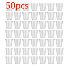 50X Clear Plastic Disposable Jelly Cup Shot Glasses Tumbler Party Wedding Supply