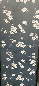 Fresco, Apple Blossom Navy/White Wallpaper