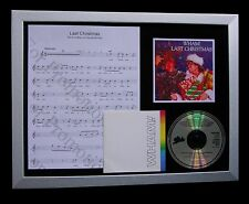 GEORGE MICHAEL+WHAM Last Christmas QUALITY CD FRAMED DISPLAY+EXPRESS GLOBAL SHIP