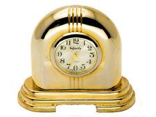 INFINITY: GOLD TONE DOME MANTEL STYLE  COLLECTABLE ANALOG QUARTZ MINI-CLOCK