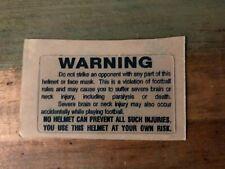 New Navy Blue Warning Label Football Helmet Decal - Full Size 3M 20Mil
