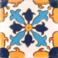 C#004) MEXICAN TILES CERAMIC HAND MADE SPANISH INFLUENCE TALAVERA MOSAIC ART