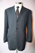John Varvatos Solid Navy Blue Three Button Wool Suit 42 R Jacket 32 29 Pants 1