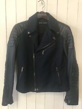 Ralph Lauren Black Label Leather Lamb Skin Moto Jacket Size S