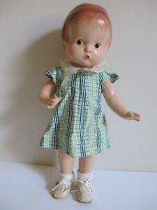 """Antique Effanbee 14"""" Composition """"Patsy Doll"""" Stamped, Original Dress, Excellent"""
