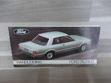 Handleiding Ford Taunus van 1976 - nederlandstalig