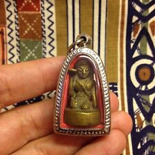 Beautiful Nang Kwak Thai Buddha Amulet Brass Luck Rich Wealth Charm Lotto Gamble