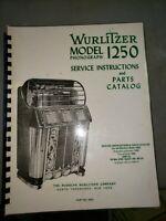 WURLITZER 1250 Service Manual & Schematic - SPIRAL BOUND