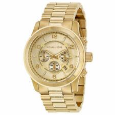 MICHAEL KORS NEW MK8077 Runway Chronograph Champagne Dial Men's Wrist Watch UK