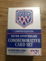 1990 NFL Pro Set Super Bowl XXV Silver Anniversary Limited Edition New Unopened