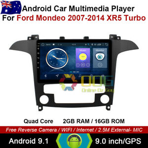 "9"" Android 9.1 Quad Core Car Non DVD GPS For Ford Mondeo 2007-2014 XR5 Turbo"