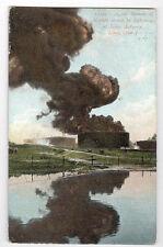 1909 LIMA OHIO NAPHTA FIRE BY LIGHTING POSTCARD PC1426