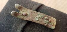 Bonito bronce Romano una vez Correa Hebilla Oro Dorados de East Yorkshire UK 1970 L72b