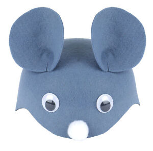 Childs Mouse Hat - Costume Accessory Fancy Dress Up World Book Day Animal