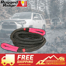 Rugged Ridge 30' Kinetic Recovery Rope Universal 15104.05 Black & Red