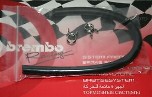 BREMBO HOSE PIPE & CLIPS for Brake or Clutch Master Reservoir- SILVER CLIPS