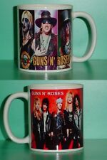 GUNS N' ROSES - Axl Rose, Slash - with 2 Photos - Designer Collectible GIFT Mug