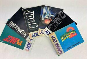 JOBLOT X6 NINTENDO GAME BOY INSTRUCTION BOOKLETS TETRIS SUPER MARIO X1 POSTER