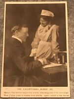rppc postcard 'The Exceptional Nurse' 1905 Doctor And Nurse At A Desk