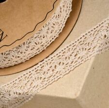 COFFEE COTTON LACE RIBBON 25mm x 10 METERS FULL REEL CRAFTS CAKE DRESSMAKING