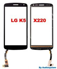 VETRO+ TOUCH SCREEN per LG OPTIMUS K5 X220 NERO RICAMBIO NUOVO per DISPLAY FLEX