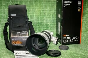 Sony FE 100-400mm F/4.5-5.6 GM, UN-USED*GENUINE UK NOT GREY 12 month Guarantee**