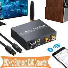 192kHz Bluetooth DAC Digital Optical Coaxial Toslink to Analog RCA Converter US