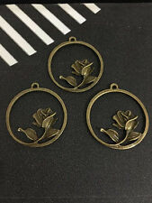 7PCS Retro Bronze Jewelry Accessories roses flowers PJ1032