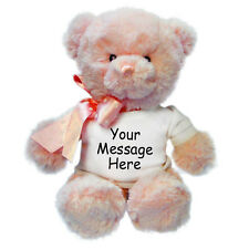 "Personalized Stuffed Animal - 12"" Aurora Pink Teddy Bear"