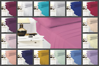 Flat Sheet Plain Dyed 100% Poly-Cotton Bed Sheets Single Double King Super king