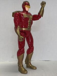 "1996 Talking Turbo Man Tiger Electronics Jingle All The Way 13.5"" Action Figure"